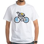Cyclist White T-Shirt