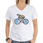 Cyclist Women's V-Neck T-Shirt