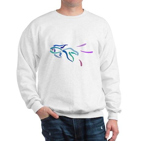 Pretty Abstract Fish Sweatshirt