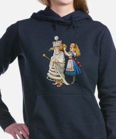 Alice WHITE QUEEN SOLO_RD.png Women's Hooded Sweat