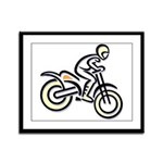 Dirtbiker Framed Panel Print