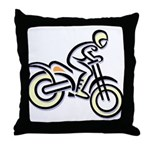 Dirtbiker Throw Pillow