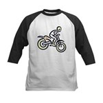 Dirtbiker Kids Baseball Jersey
