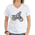 Dirtbiker Women's V-Neck T-Shirt