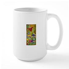 Cardinal Flying over Garden Mugs