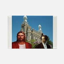Joseph Smith and jesus infront of the logen temple