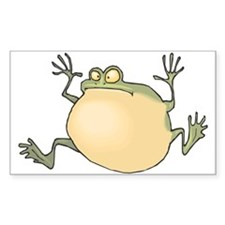Pot-Belly Frog Sticker (Rect.)