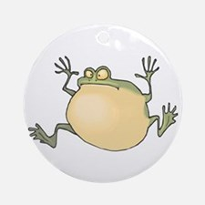 Pot-Belly Frog Round Ornament