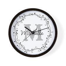 Personalized vintage monogram Wall Clock