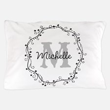 Personalized vintage monogram Pillow Case