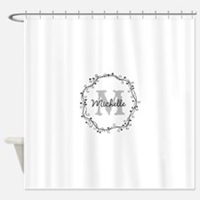 Personalized vintage monogram Shower Curtain