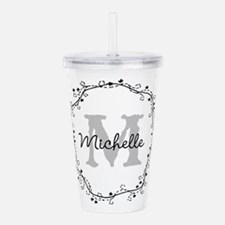 Personalized vintage monogram Acrylic Double-wall
