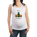 Beer Junkie Maternity Tank Top
