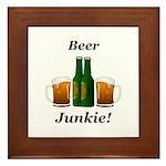 Beer Junkie Framed Tile