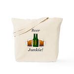 Beer Junkie Tote Bag