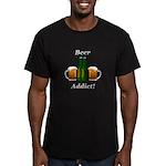 Beer Addict Men's Fitted T-Shirt (dark)