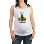 Beer Addict Maternity Tank Top