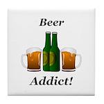 Beer Addict Tile Coaster