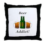 Beer Addict Throw Pillow