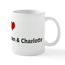 I Love Morgan & Jonathan & Ch Mug