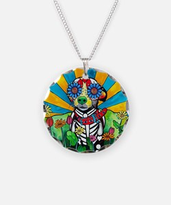 Nacho the Chihuahua Necklace Circle Charm