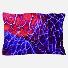 Blue Red Dragon Vein Agate Pattern Pillow Case