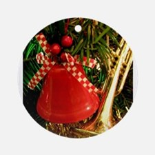 Holly Bell Ornament (Round)