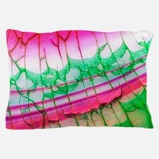 Pink Green Dragon Vein Agate Pattern Pillow Case