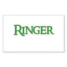 Ringer 9 Rectangle Decal