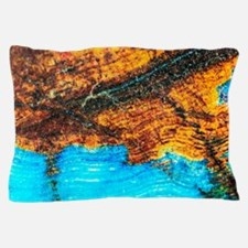 Blue and Brown Agate Pattern Pillow Case