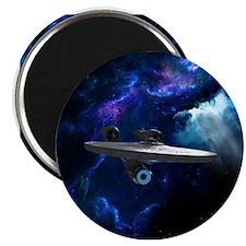 STARTREK XI ON BLUE Magnets