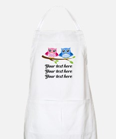 personalized add text Owls Apron