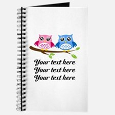 personalized add text Owls Journal