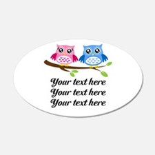 personalized add text Owls Wall Decal