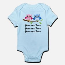 personalized add text Owls Body Suit