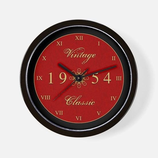 Vintage 1954 Birth Year Wall Clock
