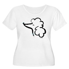 Poodle Portrait Plus Size T-Shirt