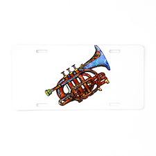 Horn Aluminum License Plate