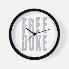 Free Duke Gray Wall Clock