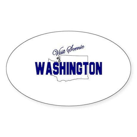 Visit Scenic Washington Oval Sticker