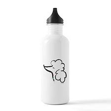 Poodle Portrait Water Bottle