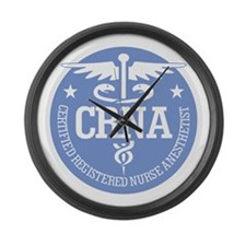 CRNA Large Wall Clock