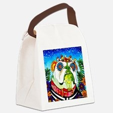 Unique Dia de los muertos Canvas Lunch Bag