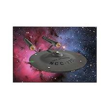 STARTREK TOS TRIFID NEBULA Rectangle Magnet