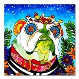 English bulldog sugar skull Car Magnets