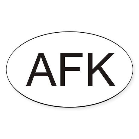 AFK Oval Sticker