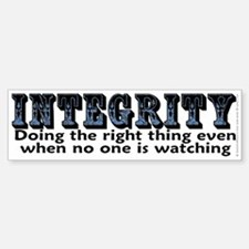 Integrity - Bumper Bumper Sticker