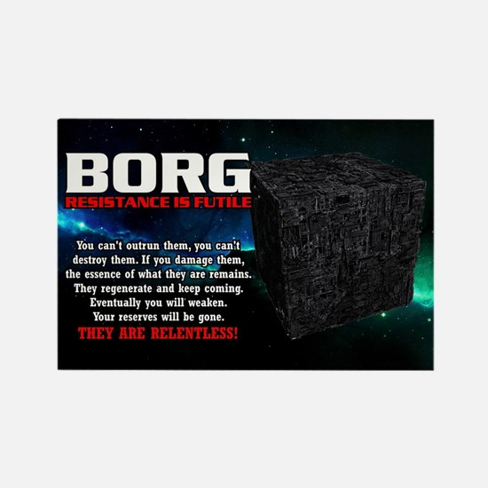 BORG RELENTLESS Rectangle Magnet