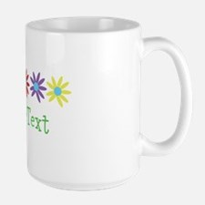 Personalize Flowers (center) Mugs