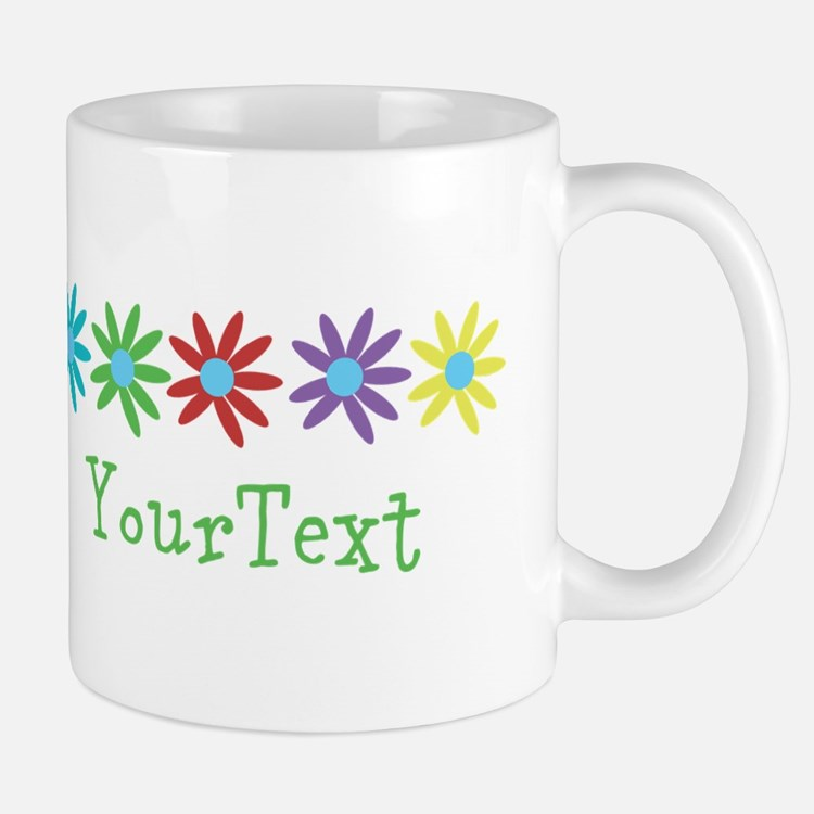 Personalize Flowers (right) Mugs